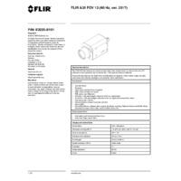 FLIR A35 Thermal Imaging Camera -  FOV 13 (60Hz ver. 2017) - Datasheet