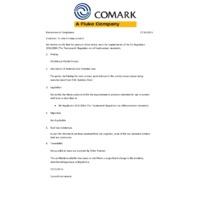 Comark Type-K Thermocouple PK19M Thin Tip Penetration Probe - Declaration of Compliance