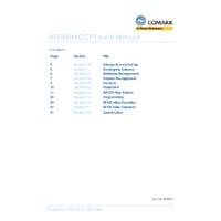 Comark HT100-PK19 HACCP Touch Temperature Data Recorder with PK19M Probe - User Manual