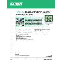 Extech 401014A Indoor and Outdoor Temperature Alert - Datasheet