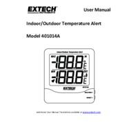 Extech 401014A Indoor and Outdoor Temperature Alert - User Manual
