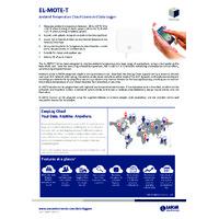 FilesThruTheAir EL-MOTE-T Cloud Connected Temperature Data Loggers - Standard Accuracy - Datasheet