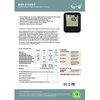 FilesThruTheAir EL-WIFI-21CFR-T Wi-Fi Temperature Data Logging Sensors - Standard Accuracy - Datasheet