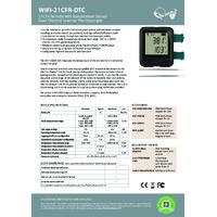 FilesThruTheAir EL-WIFI-21CFR-DTC 2x Thermocouple Probe Data Logger - Datasheet