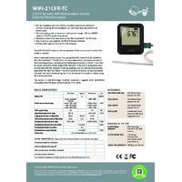 FilesThruTheAir EL-WIFI-21CFR-TC Wi-Fi Thermocouple Data Logger - Datasheet