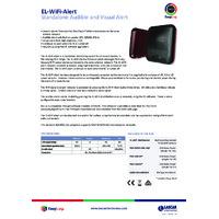 FilesThruTheAir EL-WIFI-ALERT EasyLog Audible and Visual Alarm - Datasheet