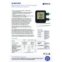 FilesThruTheAir EL-WIFI-DTC Dual Thermocouple Probe Data Logger - Datasheet