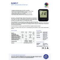 FilesThruTheAir EL-WIFI-T Temperature Data Loggers - Standard Accuracy - Datasheet