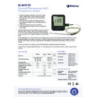 FilesThruTheAir EL-WIFI-TC Thermocouple Probe Data Logger - Datasheet