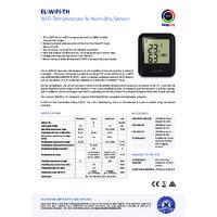 FilesThruTheAir EL-WIFI-TH Temperature and Humidity Data Logger - Standard Accuracy - Datasheet