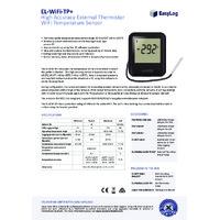 FilesThruTheAir EL-WIFI-TP+ Thermistor Probe Temperature Data Logger - High Accuracy - Datasheet