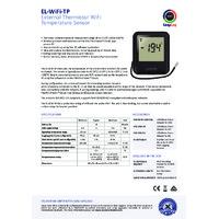 FilesThruTheAir EL-WIFI-TP Thermistor Probe Temperature Data Logger - Standard Accuracy - Datasheet
