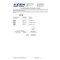 Kern ABT-NM Premium Single Cell Analytical Balance - EU Declaration of Conformity
