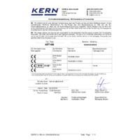 Kern ABT-NM Premium Single Cell Analytical Balance - Declaration of Conformity
