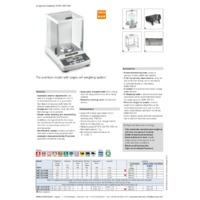 Kern ABT-NM Premium Single Cell Analytical Balance - Datasheet
