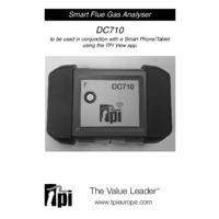 TPI DC710 Smart Combustion Analyser - User Manual