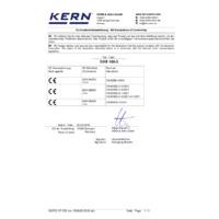 Kern DAB 100-3 Moisture Analyser - Declaration of Conformity