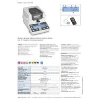 Kern DAB 100-3 Moisture Analyser - Datasheet