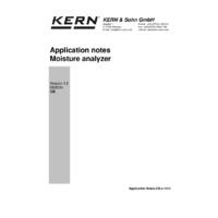 Kern DAB 100-3 Moisture Analyser - Application Note
