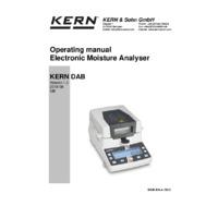 Kern DAB 100-3 Moisture Analyser - Operating Manual