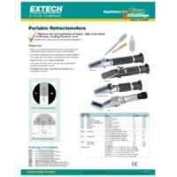 Extech RF10 Portable Sucrose Brix Refractometer - Datasheet