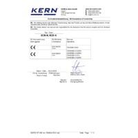 Kern ECE-N Plastic Bench Scales - Declaration of Conformity
