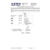 Kern EWJ Automatic Adjustment Precision Balances - Declaration of Conformity