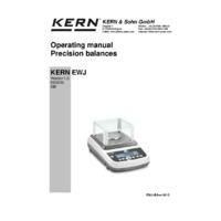 Kern EWJ Automatic Adjustment Precision Balances - Operating Instructions