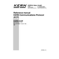 Kern KCP -Instruction Manual