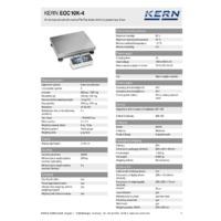 Kern EOC 10K-4 Dual-Range Industrial Platform Scales - Technical Specifications