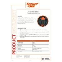 Socket & See SOK32 Professional Socket Tester - Datasheet