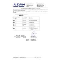 Kern HFC Crane Scales – Declaration of Conformity