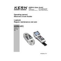 Kern HFC Crane Scales – Instruction Manual