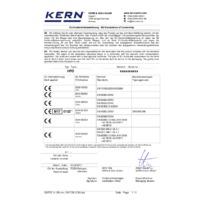 Kern HFO Industrial Crane Scales - EU Declaration of Conformity