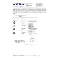Kern HFO Industrial Crane Scales - Declaration of Conformity