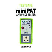 TestSafe miniPAT Appliance Tester - Instruction Manual