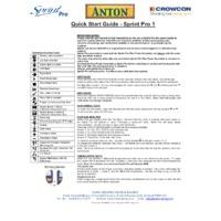 Anton Sprint Pro 1 Multifunction Flue Gas Analyser - Quick Start Guide