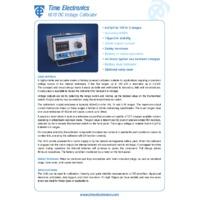 Time Electronics 1010 DC Voltage Calibrator - Datasheet