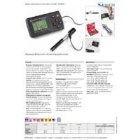 Sauter HMM Mobile Leeb Hardness Tester - Datasheet