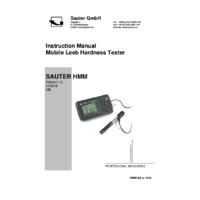 Sauter HMM Mobile Leeb Hardness Tester - Instruction Manual