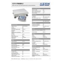 Kern IFB 600K-2 Industrial Single-Range Platform Scales - Technical Specifications