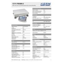 Kern IFB 300K-2 Industrial Single-Range Platform Scales - Technical Specifications