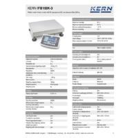 Kern IFB 100K-3 Industrial Single-Range Platform Scales - Technical Specifications