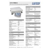 Kern IFB 6K-4 Industrial Single-Range Platform Scales - Technical Specifications