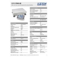 Kern IFB 6K-4S Industrial Single-Range Platform Scales - Technical Specifications