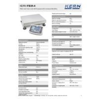 Kern IFB 3K-4 Industrial Single-Range Platform Scales - Technical Specifications
