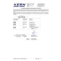 Kern IFB Industrial Single-Range Platform Scales - Declaration of Conformity
