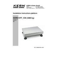 Kern IFB Industrial Single-Range Platform Scales - Installation Instructions