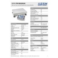 Kern IFB 150K20DLM Industrial Dual-Range Platform Scales - Technical Specifications
