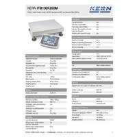 Kern IFB 150K20DM Industrial Dual-Range Platform Scales - Technical Specifications